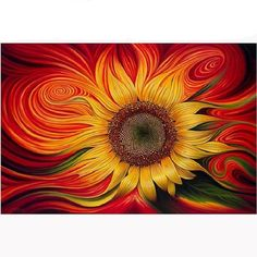 Cheap sunflower embroidery, Buy Quality diy directly from China diamond cross stitch Suppliers: DIY Diamond Painting Flaming Sunflower Embroidery Full Square Diamond Cross Stitch Rhinestone Mosaic Painting Home Decor Gift Art Floral, Floral Style, Sunflower Art, Sunflower Paintings, Blooming Sunflower, Sunflower Crafts, Sunflower Pattern, Pattern Flower, 5d Diamond Painting
