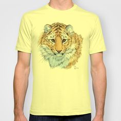 Young Sweet Tiger T-shirt by S-Schukina - $22.00