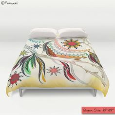 Bohemian Duvet Cover Colorful feather arrow duvet cover by Famenxt