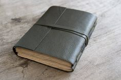 Leather journal leather notebook travel journal by BrotherWorks, $28.00