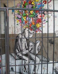 Your body may be confined but yor mind is always free, knowledge is power and art is an amazing conduit For more from this gallery please check out http://pics.funnierpics.net/street-art-jpg-2-1.html