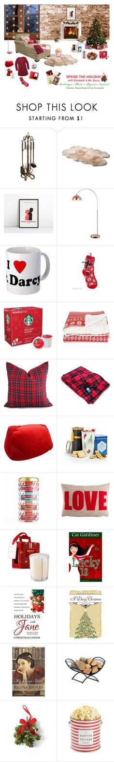 Austenesque/Pride & Prejudice Holiday Themed Reads & Cozy Accessories by nshubrick-1 on Polyvore featuring MeMoi, UGG Australia, The Hampton Popcorn Company, GlucksteinHome, Sephora Collection, Frontgate, ShelterLogic, Alexandra Ferguson, Zhena's Gypsy Tea and LUCKY 13