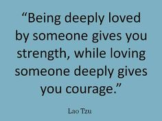Love makes us a strong person.  #Love #Relationships