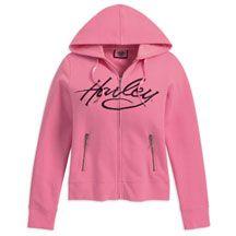 Pink Harley hoodie