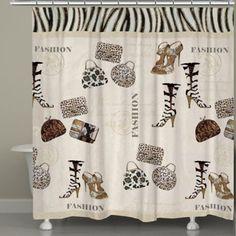 Laural Home® Wild for Fashion Shower Curtain - BedBathandBeyond.com