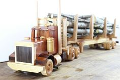 Fantastic Logging Truck by Little Woodworking on Etsy, $350.00