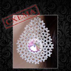 """Купить Схема к серьгам """"Паутинки"""" - схема, схема плетения, серьги, кристаллы сваровски, обучающие материалы"""