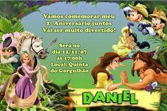 Convite digital personalizado da Disney 004