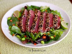Spicy Seared Ahi Tuna Salad with Sesame Ginger Dressing      What better way to celebrate something special than with a healthy, flavo...