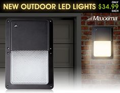Rectangular Outdoor LED Wall Pack Light with Dusk to Dawn Sensor