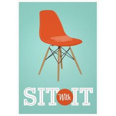 Dave ! Affiche Eames Sit with It - Lili's
