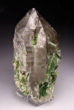 Elbaite with Quartz, Albite, Nuristan Province, Afghanistan (cabinet) - Item #: 2705756