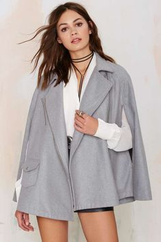 Rayanne Cape Coat | Shop Clothes at Nasty Gal!