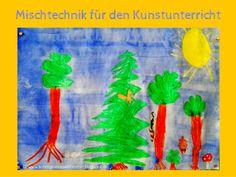 Sonniges Klassenzimmer: Mischtechnik für den Kunstunterricht