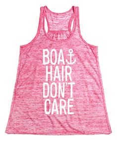 Look what I found on #zulily! Red Marble 'Boat Hair Don't Care' Flowy Tank #zulilyfinds