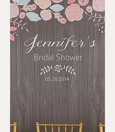 Personalized Rustic Photo Booth Backdrop for a bridal shower or wedding