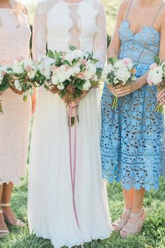 Mismatched bridesmaids dresses | DiPrima Photography | see more at…