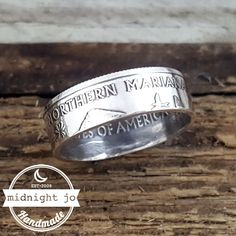 Northern Mariana Islands 90% Silver Quarter Coin Ring