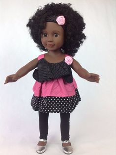 Curly Girls Kahlia - 18 Inch  African American Doll