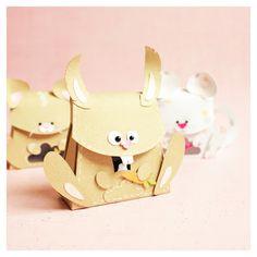 bunny gift box #giftbox #box #bunny #easter