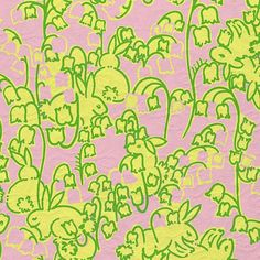"Lilly Pulitzer ""Hopping Down the Bunny Trail"" print. Picture Yourself in Paradise at www.floridanest.com"