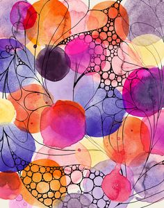 Drawing For Beginners Easy Watercolor Painting Ideas for Beginners Abstract Watercolor Art, Watercolor And Ink, Watercolor Flowers, Watercolor Paintings For Beginners, Beginner Painting, Creation Art, Sharpie Art, Alcohol Ink Art, Art Plastique