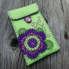 felt flower case