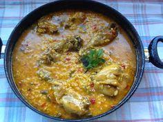 El blog de Elia: El truco de mi Arroz caldoso con pollo y verduras. ¡¡Repetireis!! Aroz Con Pollo, Spanish Cuisine, Mexican Food Recipes, Ethnic Recipes, Cheeseburger Chowder, Risotto, Curry, Easy Meals, Soup