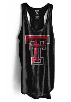 5e1471048b80 Texas Tech Red Raiders Womens Black Iconic Tank Top - 4752530