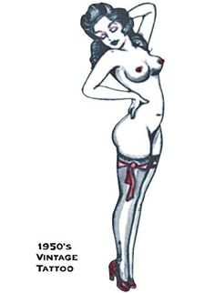 1950s Vintage Tattoo Girl Standing : Halloween Accessory by Costume Planner. $12.98. New for 2011. Costume Planner. A temporary tattoo. So realistic, your friends will think its real! Search tags: (1950s, vintage, girl, standing, tattoo, accessory, Halloween 2011)