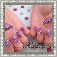 CND Shellac Lilac Longing with accents in Cream Puff and Tinsel Toast #sweetsquared #cndworld #shellac