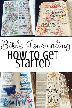 Jesus Christ Quotes:How to get started Bible journaling - This post explains how and why you should start Bible journaling and what materials you need! I've always been curious about it, and this was the perfect primer to get started! Bible Journaling For Beginners, Bible Study Journal, Scripture Study, Bible Art, Art Journaling, Scripture Journal, Journal Art, Hymn Art, Prayer Journals