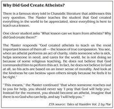 Why+did+God+create+atheists?