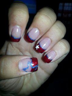 july 4th nails! #Polished2aT #BeechCreekSalon