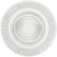 Assiette plate transparente ciselée, ø 25 cm, verre.