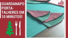 Guardanapo Porta-talheres Árvore de Natal em 10 minutos! +molde