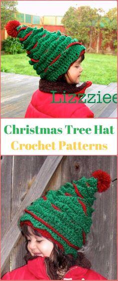 4b3868a5c251a Crochet Christmas Tree Hat Paid Pattern - Crochet Christmas Hat Gifts  Patterns Gorros Navideños Para Niños