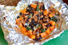 Tasty Kitchen Blog: Sweet Potato Foil Packs. Guest post by Maggy Keet of Three Many Cooks, recipe submitted by TK member Natalie Perry of Perry's Plate.
