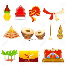 Here you can see the Indian Wedding Clipart Vector collection. You can use these Indian Wedding Clipart Vector for your documents, web sites, art projects or presentations. Wedding Symbols, Hindu Wedding Cards, Indian Wedding Invitation Cards, Wedding Invitation Background, Wedding Motifs, Creative Wedding Invitations, Hindu Weddings, Wedding Drawing, Wedding Painting