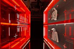 Nike flagship store by Nike  Make me feel like at spaceship with aliens. Looks so technological.