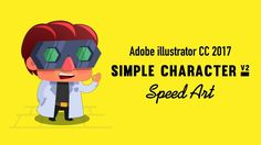 How to draw a simple game character ( ) on Adobe illustrator cc Music by: You're free to use this song and monetize your video, but you must incl. Simple Character, 2d Character, Character Design, Speed Art, Adobe Illustrator Tutorials, Design Tutorials, Motion Graphics, Animation, Illustration