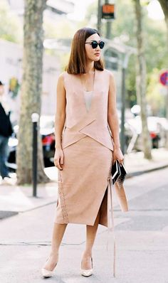 Structured blush pink set