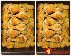Toto je naozaj vynikajúci recept – úplne najlepšie kuracie stehienka, aké poznám – chrumkavé a pritom bez vyprážania, pečené v rúre a pripravené skutočne rýchlo. Ak máte radi nové recepty, skúste, určite budete spokojní. Ham, Zucchini, Shrimp, Food And Drink, Chicken, Vegetables, Cooking Ideas, Vegetable Recipes, Hams
