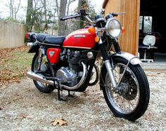 Honda CB 450 from 1974. Very fast from a standing stop. I owned one from 1974 to 1987.