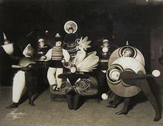 Bauhaus school costume party, 1920s