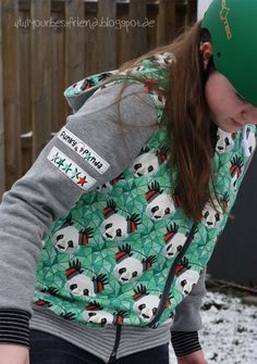 Kapuzenjacke No. 15 #lillesolwomen ...funky panda for my funky girl... (via Bloglovin.com )
