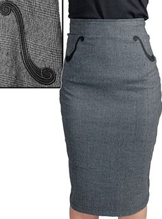 Hit The Right Note Pencil Skirt