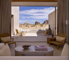 view from the suite room amangiri resort, grand canyon USA