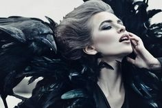 Queen of ravens  Fashion Photography by Moscow, Russia based photographer Ekaterina Belinskaya. Specializing in such genres as portrait/fashion, she embodies her ideas, creating unique accessories, clothes and other things for the photo-shoot by herself but she also works with professional designers, stylists and make-up artists.    Each picture made by Ekaterina is a fairy tale … Beautiful and mysterious.