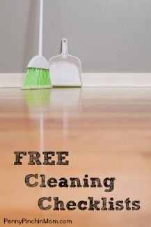 Free Cleaning Checklists